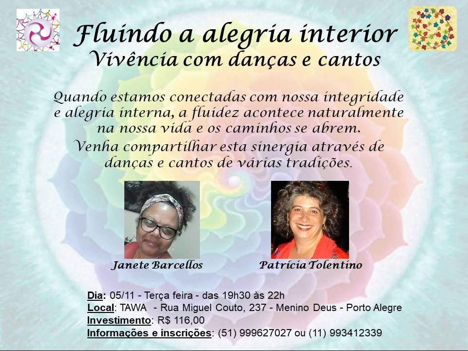Fluindo a Alegria Interior - Evento em 05/11/2019 - Porto Alegre